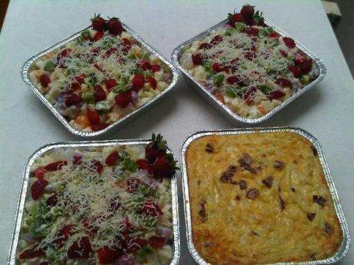 fruit salad & macaroni